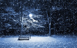 free-hd-snow-storm-park-bench-wallpapers